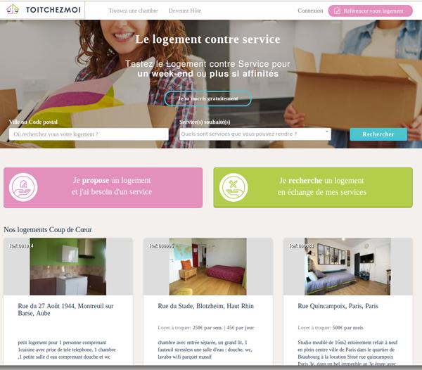 Logement ou location contre service gratuit for Chambre contre service paris