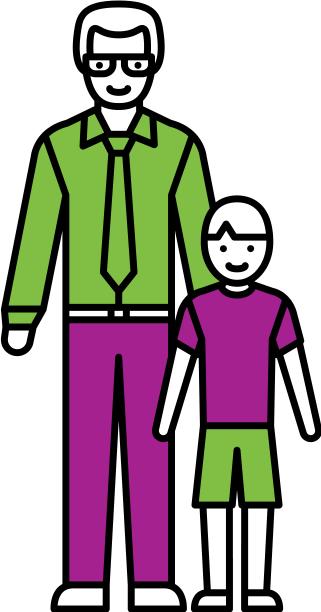 Père célibataire et son fils